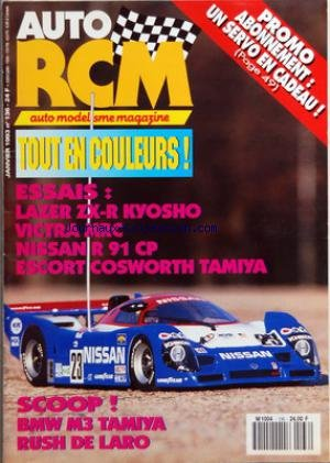 AUTO RCM [No 136] du 01/01/1993 - AUTO MODELISME MAGAZINE - TOUT EN COULEURS ! - ESSAIS - LAZER ZX-R KYOSHO - VICTRA MRC - NISSAN R 91 CP - ESCORT COSWORTH TAMIYA - SCOOP ! - BMW M3 TAMIYA - RUSH DE LARO - PROMO ABONNEMENT - UN SERVO EN CADEAU ! par Collectif