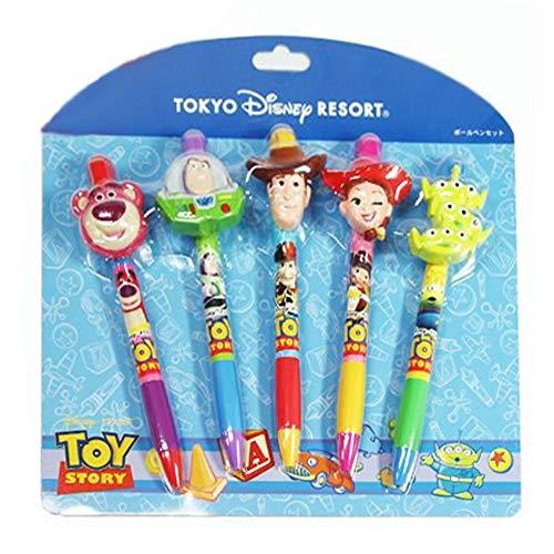 Toy Story Charakter Kugelschreiber Set Woody Buzz Lightyear Jessie Little Green Men Rottsu ~ o [Tokyo Disney Resort Limited (Japan-Import)