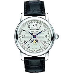 Montblanc Reloj de hombre automático 42mm correa de cuero de caimán 113645