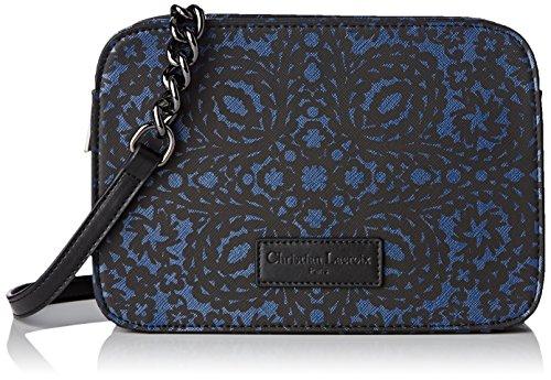 Christian Lacroix Picador 7, Borsa a tracolla donna , Blu (Bleu (Noir Bleu Fonce 7I02)), S