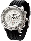 Jorg Gray Men's Chronograph Watch JG1600-11 with White Dial and Rubber Strap