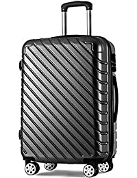 Merax Carry On Super Lightweight ABS Hard Shell Travel Trolley Travel Hold Check in Luggage Suitcase with 4 wheels Holdall Case