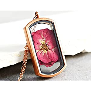ROSA DAMASCENA Rosé vergoldete Medaillon Kette
