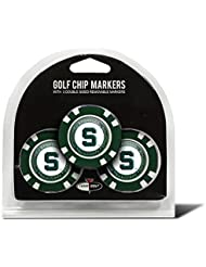 3 Pack Poker Chip Michigan State University Golf Ball Markers by Team Golf