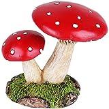 Wonderland Miniature Fairy Garden Mushroom Red 2.3 Inches With White Dots For Planter Decoration, Bonsai, Terrarium, Garden Decor, Mini, Miniatures, Tray Garden, Doll House, Kids Room Decor, Gift, Home Decoration Item