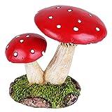 #3: Wonderland Miniature fairy garden Mushroom Red 2.3 inches with white dots for planter decoration, bonsai, terrarium, garden decor, mini, miniatures, tray garden, doll house, kids room decor, gift, home decoration item