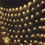 Road&Cool Rete di Luci A LED Illuminazione Lampada Natale All'aperto Parete Impermeabile Festa Stella Nozze Giardino Decorazione Rete da Pesca Notte Umore Stringa Bianco Caldo Fata