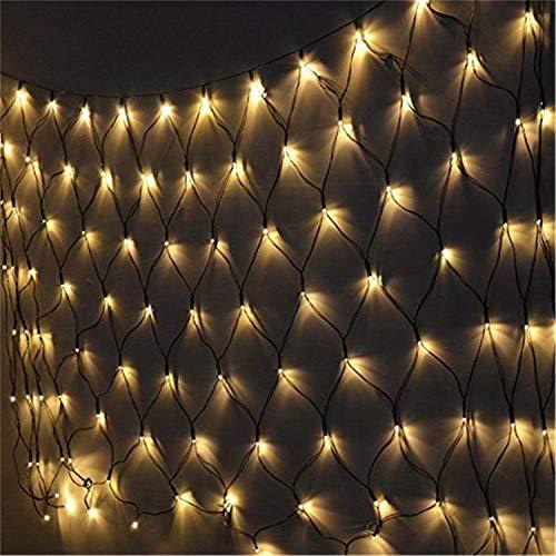 Road&Cool LED-Lichternetz Net Licht Angeln String Weihnachten Im Freien Wasserdichte Garten Starry Hochzeitsdekoration Nachtlampe Beleuchtung Fee (1,5 * 1,5 Mt) (Angeln Net Licht)