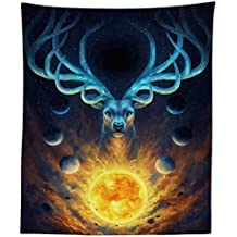 JLA Tapestry, Animal Head Wall Hanging, Suitable For Living Room Bedroom Decoration, Multi-Function Sofa Cover, Tablecloth, Polyester,B,150X100cm
