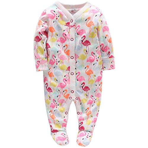 Neonata Pagliaccetto Body - Neonato Bambino Pigiama Tutina Maniche Lunghe Tuta Outfits, 3-6 Mesi