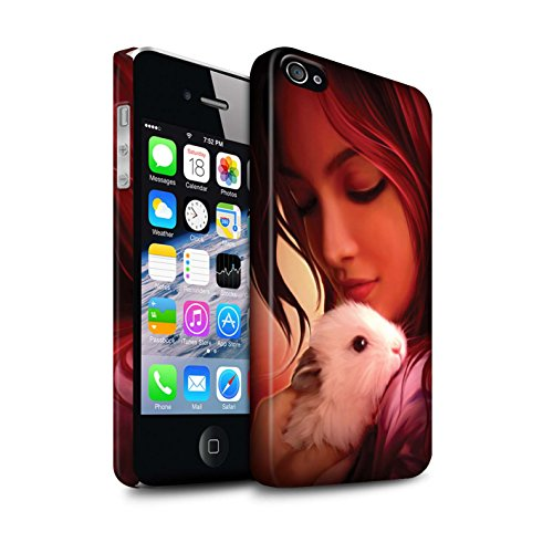 Officiel Elena Dudina Coque / Clipser Matte Etui pour Apple iPhone 4/4S / Petit Panda/Bambou Design / Les Animaux Collection Dans mes Bras/Sûr