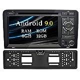Ohok 7 Pollici Android 9.0 Pie Octa Core 4G+32G 2 Din In Dash Autoradio Schermo di Tocco Lettore DVD Navigatore GPS Con Bluetooth Per Audi A3 2003-2013 con telecamera di retromarcia