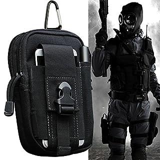 Hüfttaschen 1000D Nylon, ARMRA Taktische Tasche Draussen Camping Militär Brieftasche Beutel Telefon Fall Hüllen für iPhone 7/7 Plus / 6/6 Plus / Samsung Galaxy S8 / S8 Plus / S7 / S6 / LG (Schwarz)