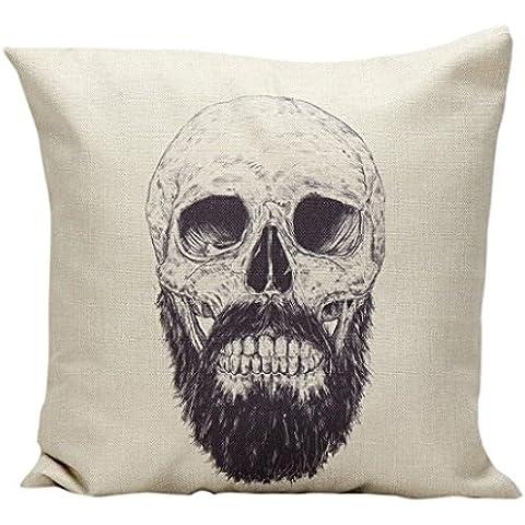 Vovotrade Cuscino Vita tiro Halloween Skull federa Divano (D)