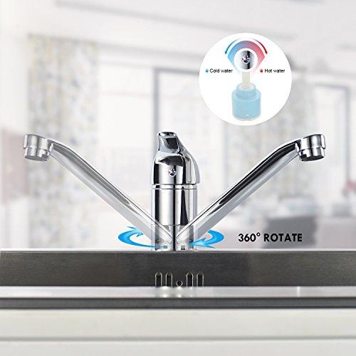 Auralum® Einhebel Spültisch Armatur Mischbatterie Wasserhahn Klasisch Design - 3