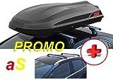 KIT BOX AUTO DA TETTO+ BARRE PORTATUTTO NERO FABBRI, BOX ADAMANTIS 460 LT BAULE...