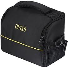OUTAD Bolsa Bandolera Funda para Cámaras Réflex Cámara de Video y Foto Accesorios Canon Nikon Sony DSLR Color Negro