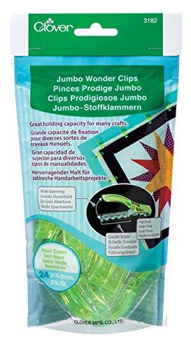clover-pince-prodige-jumbo-neon-vert-24-pieces-par-sachet