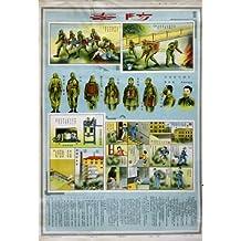 Información de la vendimia de la caza chino avisos cartel de la reproducción en defensa de GAS CIVIL 200gsm A3 tarjeta del arte del satén