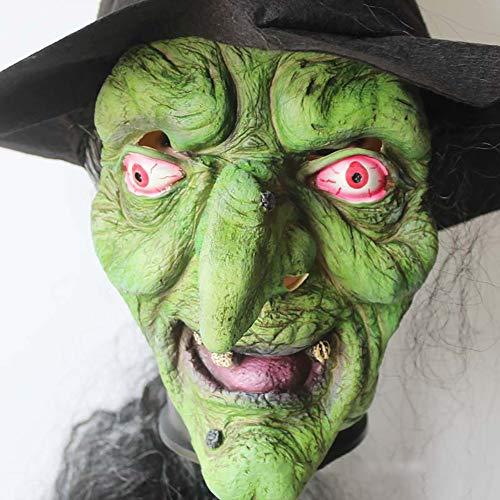 Horror Hexe Maske, Latex Masken Halloween Horror Kostüm Prop Dress Up Cosplay, Maske Erwachsene Scary - Hexe Themen Kostüm