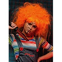 Magic Box Womens Backcombed Naranja Chucky Estilo Peluca