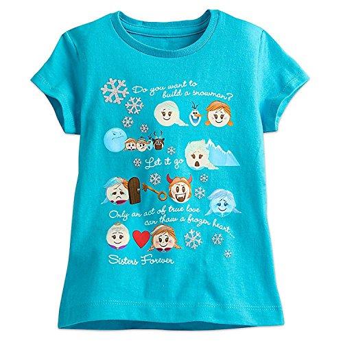 Disney Frozen Emoji Tee for Girls Size XS (4) Blue
