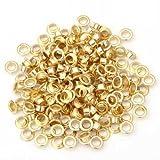 Gleader 200 Metall runde oesen/Eyelets/Nieten Golden Farbe 8mm 0.35