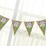 Geburtstags-Dreieck Flagge Pennant Banner Bunting Partei Props Dekoration - Muster