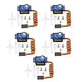 Swiftswan 5 Stücke 9g Micro Mini Servo Motor Hörner für RC Roboter Arm Hubschrauber Flugzeug Auto
