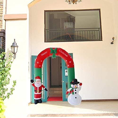 Capodanno A Casa Di Babbo Natale.Arco Di Natale Arco Gonfiabile Di Babbo Natale Pupazzo Di Neve