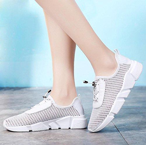 Frau beiläufige Sportschuhe atmungsaktiv Laufschuhe Aufzug Schuhe Frau Herbst White