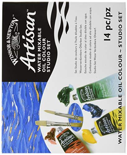 Winsor & Newton Artisan Oil - Set 10 Tubi da 37 ml, 2 Pennelli, 1 Flacone 75ml