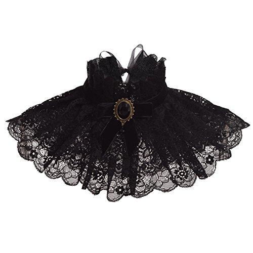 GRACEART Abnehmbar Rüschen Kragen Viktorianisch - 2 Stück Rüschen Kostüm