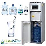 Distributeur d'eau fraîche ou chaude - La fontaine à Eau Réfrigérée distriwater multi-bonbonnes chaud et froid pour le bureau et la maison - Couleur Gris