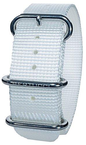 Bertucci DX3 B-137 Herren Moondust Weiß 22mm Nylon Uhrenarmband