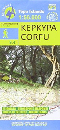 Corfu Wanderkarte 1 : 56 000 Topografische Wanderkarte 9.4 -
