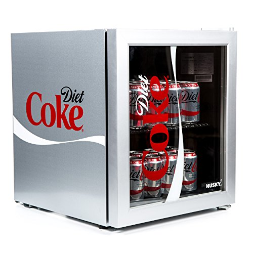 51HlalHjw3L. SS500  - Husky HUS-HY209-HU Diet Coke Design Glass Door - [Energy Class A+]