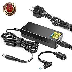 TAIFU 90W Chargeur Notebook Adaptateur Secteur 7,4mm × 5,0mm avec Embout 4,5mm × 3,0mm pour HP Pavilion dm4 dv3 dv4 dv5 dv6 dv7 dv8 G4 G6 G7 ProBook 4310s; HP Pavilion 15 17 Series n096sa 17-ca0204ng
