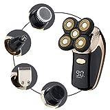 SZFREE Rasoio Elettrico 5 In 1 Tagliacapelli Naso Kit Dispositivo Capelli Rasoio Rotante Impermeabile Usb Ricaricabile Testa Di Taglio Rimovibile Display A Led
