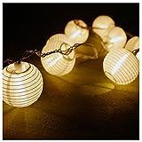 TAOtTAO Solar Outdoor Fairy Laterne für Party Garten Home Hochzeit Beleuchtung Dekoration (Weiß)