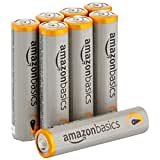 AmazonBasics Lot de 8 piles alcalines Type AAA 1,5 V 1340 mAh (design variable)