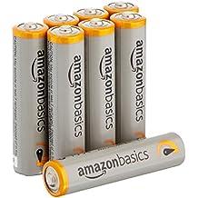 AmazonBasics - Pilas alcalinas AAA 'Performance' (Paquete de 8) - Diseño variable