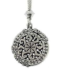 Fait à la main Invincibilité Viking nordique en bataille Aegishjalmur Rune en étain Chaîne pendentif ~ guerrier