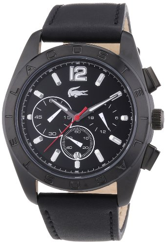 Lacoste Herren-Armbanduhr XL Analog Quarz Leder 2010609