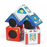 Fat Brain Toys FA117-1 - Vroom Blox - Verwandelbares Baustein-Spielauto/Toyblocks Into Cars