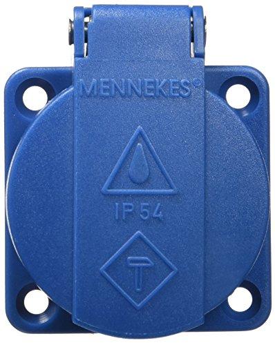 Mennekes-11011-Schuko-Steckdose-IP54-in-mit-Deckel-Blau