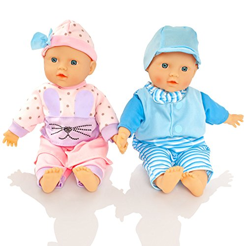 Molly Dolly Twin Dolls - 30cm So...