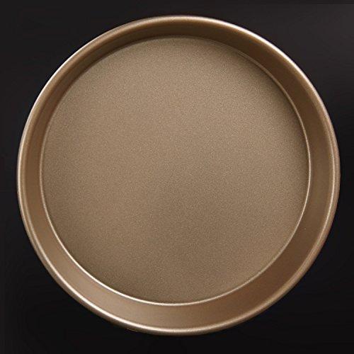 8-inch 9-inch pizza pan d'oro, non-bastone Arriccia forno cottura , [28697] gold 9 inch reel