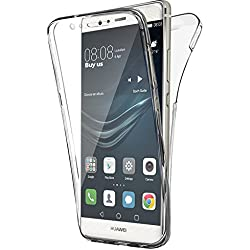AccessOne Coque Double Gel 360 Degres Protection Integral Anti Choc Etui Ultra Mince Transparent Invisible Compatible pour Huawei P9 Lite