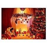 ODJOY-FAN Weihnachten Punktbohrer Gemälde Diamant Dekoration Punktbohrer Malerei Strass Eingefügt Stickerei Malerei Kreuz Stich Zuhause Dekor 40X30cm(D,40X30cm)